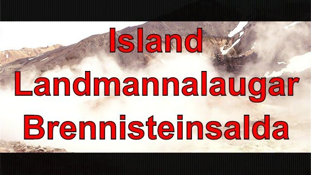 Island Landmannalaugar Brennisteinsalda
