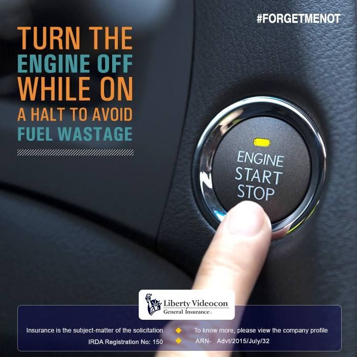 Bikes and cars don't need much time to start up. Turn off the engine, if your vehicle is going to be stationery for more than 30 seconds. #ForgetMeNot
