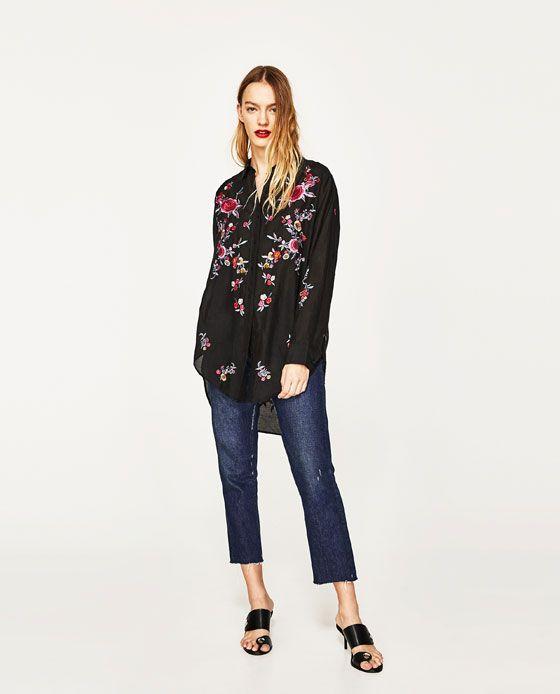 les 25 meilleures id es concernant chemise femme zara sur pinterest combinaison femme zara. Black Bedroom Furniture Sets. Home Design Ideas