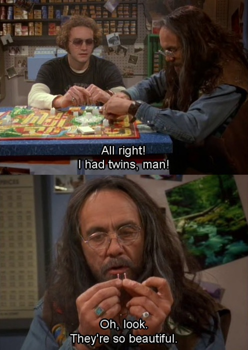 That 70s Show. Funny thing is, we have this version of life that was Moms as a kid. It's more fun than the new version!