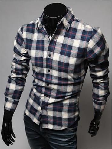 FREE SHIPPING Pattern Type: Plaid Sleeve Style: Regular Closure Type: Single Breasted Fabric Type: Broadcloth Material: Cotton,Polyester Collar: Turn-down Colla