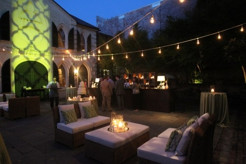 A simple idea for restaurants with outdoor patios to light up their space. http://www.partylights.com/String-Lights-Sets