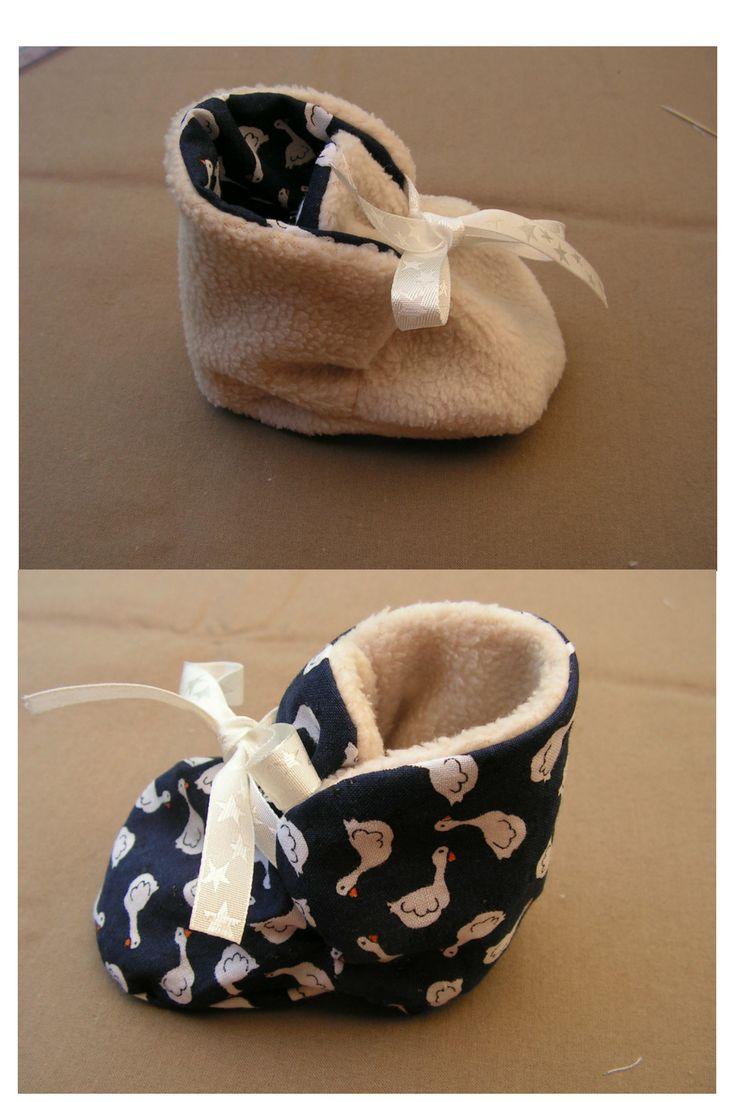 17 meilleures id es propos de tutoriel de chaussures de - Tuto chausson bebe couture ...