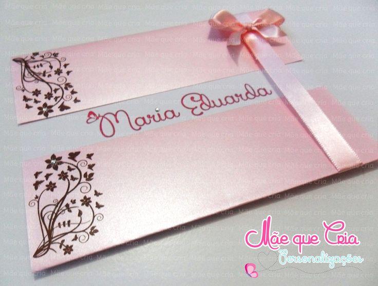Convite de 15 anos marrom e rosa