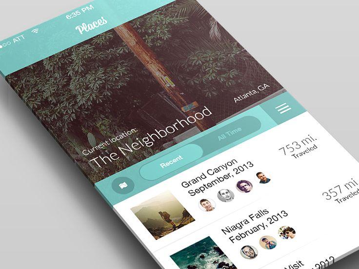 Mobile Design Inspiration - Places | Travel Concept Follow:...