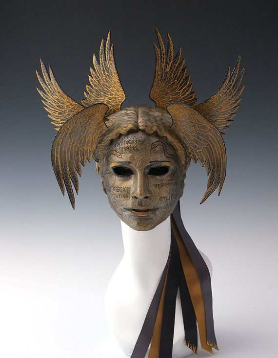 Vanth Etruscan goddess associated with death by TheArtOfTheMask, $245.00