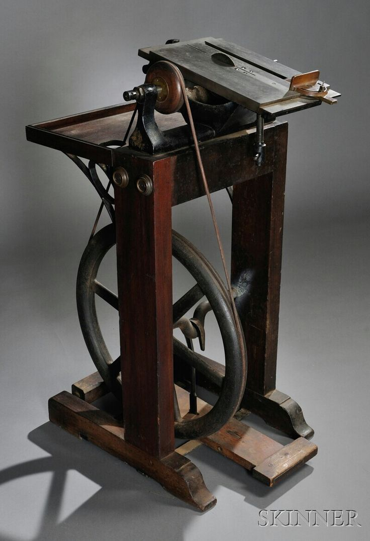 Treadle-powered Table Saw | Sale Number 2623M, Lot Number 243 | Skinner Auctioneers