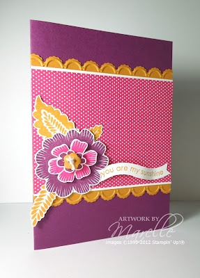 Marelle Taylor: Colour Combinations, Birthday Cards, Stampin Up, Gorgeous Colour, Marell Taylors, Taylors Stampin, Marel Taylors, Marelle Taylors