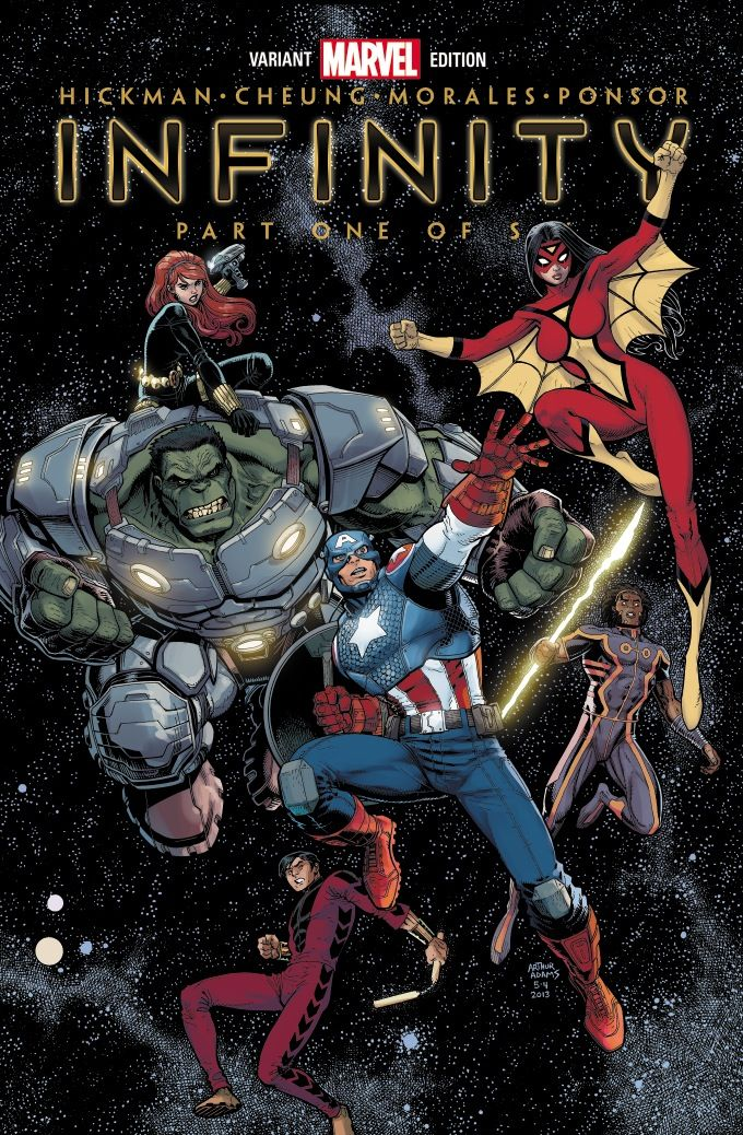 Infinity #1 Even Art Adams can't make Cap's new costume look good. Kneepad? Really?