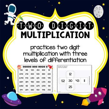 This game is a fun, hands-on activity that engages students as they practice multiplying two-digit numbers. This activity could easily be used in small group instruction, as a supplement to your math curriculum, as a fast finisher activity, or to differentiate your instruction. #multiplication #math #game #elementary #teaching