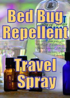 Bed Bug Repellent Travel Spray - Keep bed bugs at bay naturally. Definitely taking this with me on my trip to NYC!