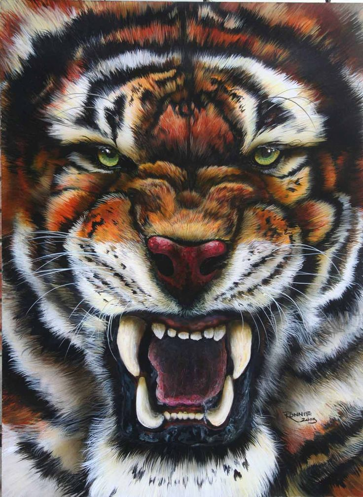 tiger airbrushed by Veronica