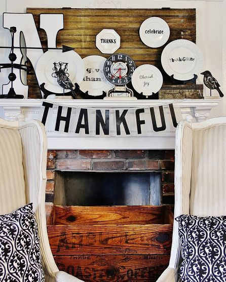 One of my personal favorite Thanksgiving mantle!