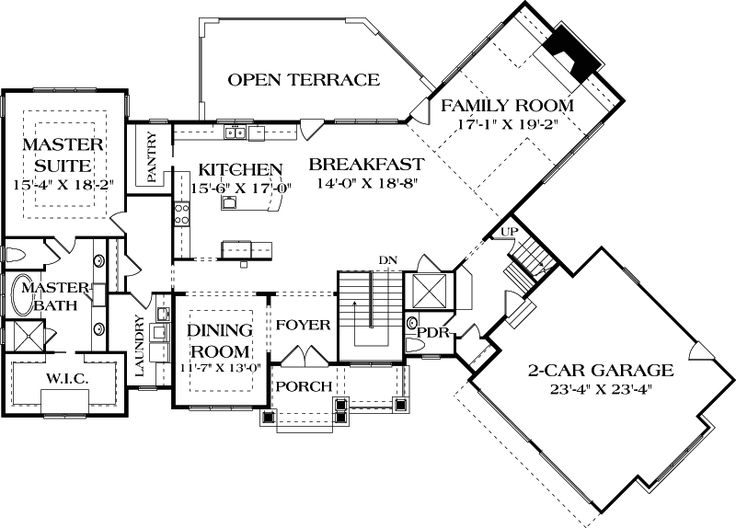 Like the layout but no stairs add bedrooms on behind for House behind house plans