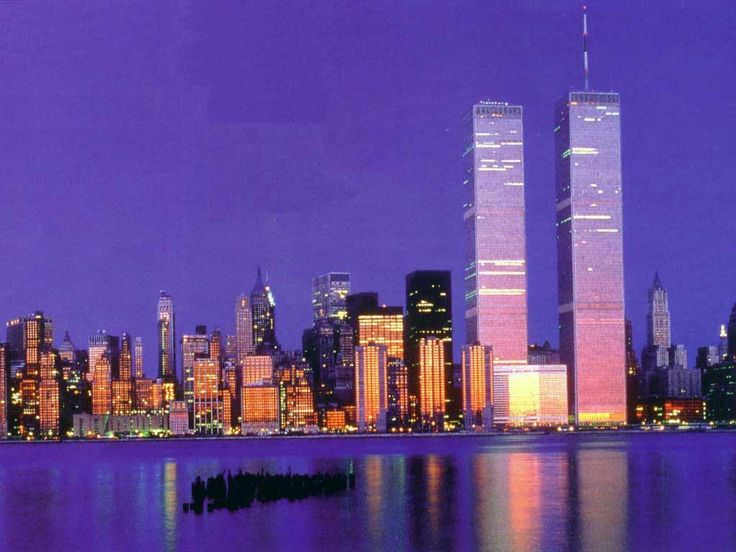 The twin towers prior to 9/11/01.  Rest in peace.  May we never forget.: Spaces, Favorite Places, New York, Travel, 9 11 01, 911, Forget, Newyork
