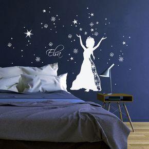 Wandtattoo Schneekönigin Prinzessin Frozen M1647 von deinewandkunst auf DaWanda.com
