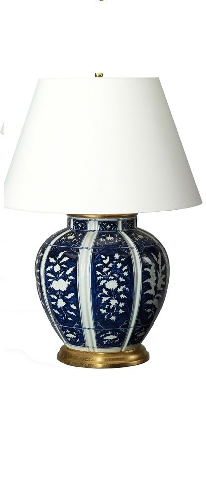 Blue And White Lamp Lamps Bedroom Tableliving Room