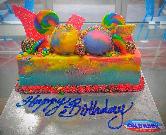 Rainbow cake celebration