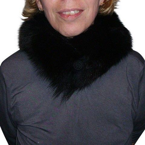 Fox skin collar - Black - Natural fur
