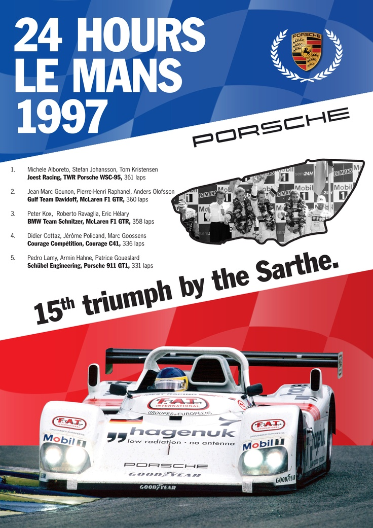 une 15e victoire pour PORSCHE sur le circuit de la Sarthe.