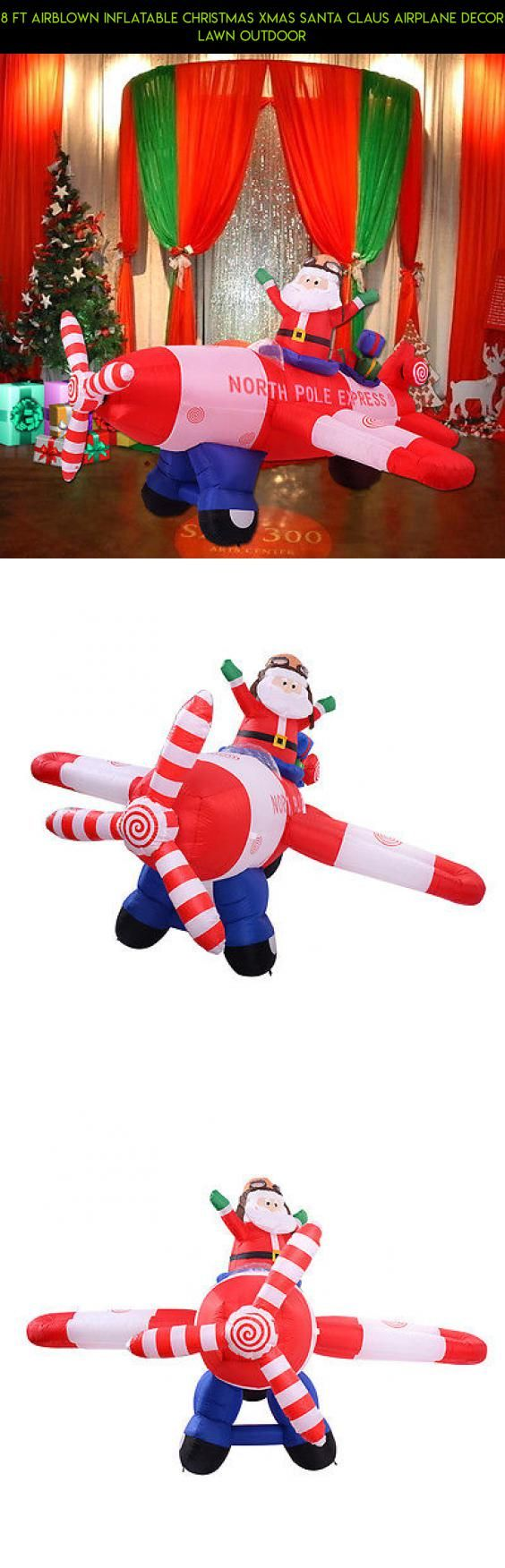 8 Ft Airblown Inflatable Christmas Xmas Santa Claus Airplane Decor Lawn Outdoor #fpv #decor #technology #racing #kit #airplane #drone #products #tech #plans #outdoor #camera #parts #shopping #gadgets