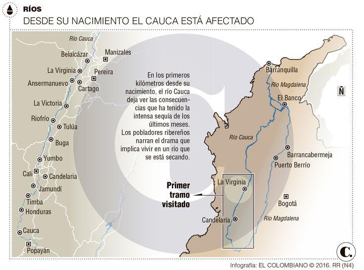 Fenómeno de El Niño está secando el río Cauca