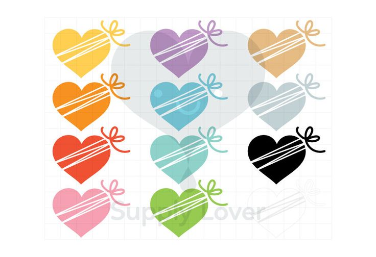 HEART BOX Clip-Art Commercial Use, Heart, Ribbon, Bow, Gift Box, Valentines Present, Chocolate Box, Christmas Present - B0013