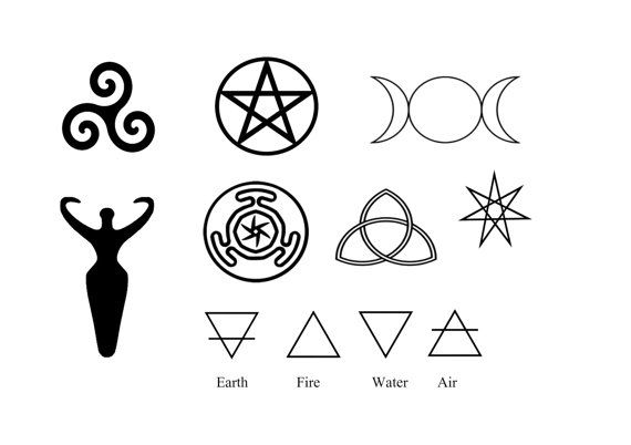 Pagan Symbols Body Art Goddess Symbol Wiccan by WickedlyLovelyArt
