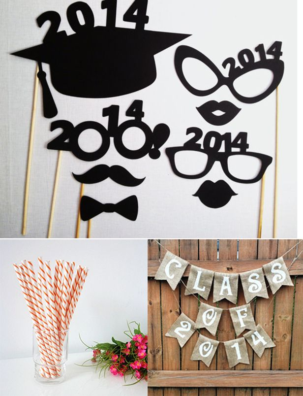 Throwing the Perfect Grad Party (http://blog.hgtv.com/design/2014/05/06/throwing-the-perfect-grad-party/?soc=pinterest): Grad Party'S, Graduation Party'S, Grad Parties, Paper Straws, Burlap Banners, Graduation Ideas, 2015 Banners, 2014 Burlap, Graduation Parties