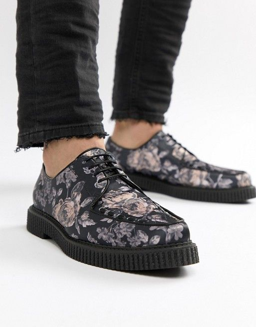 ASOS DESIGN Lace Up Creeper Shoes In
