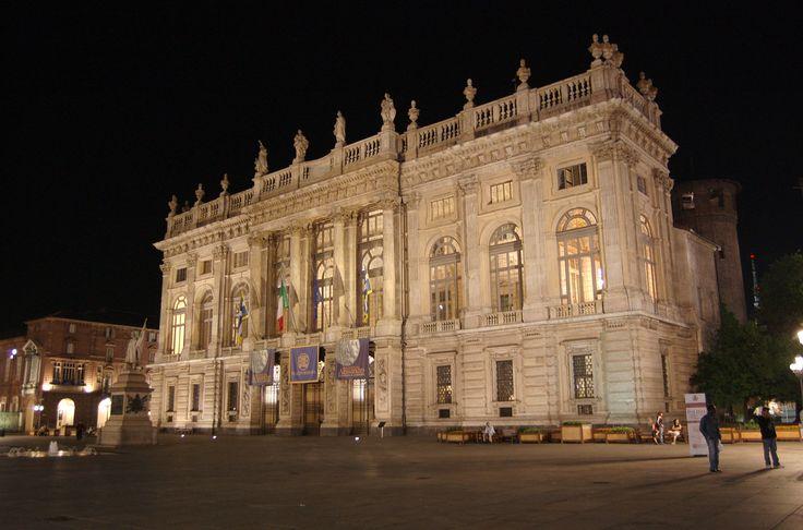 Palazzo Madama di notte, Torino.