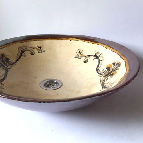 Keramik+Waschbecken+Rokoko+von+artkafle+auf+DaWanda.com