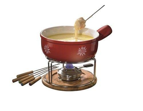 Style'n Cook Käsefondue Set   10 teiligStyle'n Cook Käsefondue Set rot, 10 teilig, für 6 Personen,    #Leifheit #411788 #Fondue