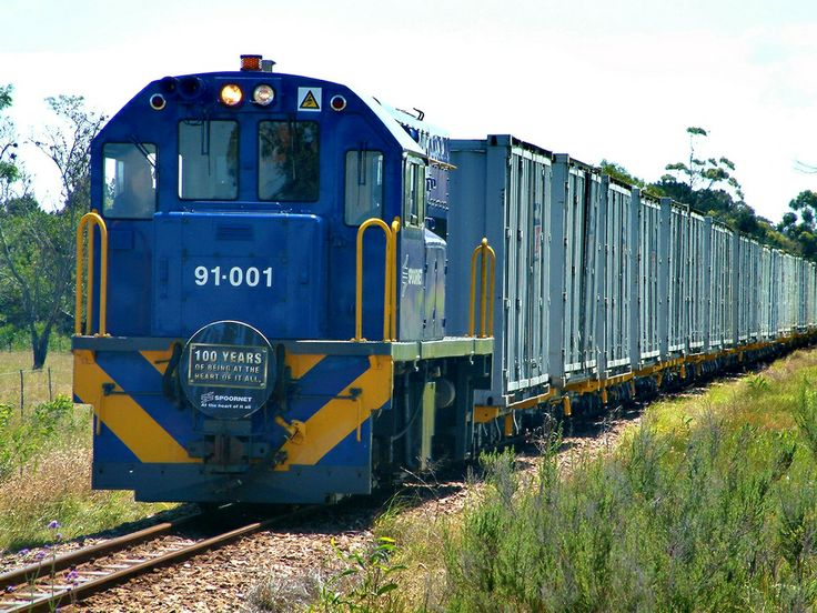 A record being set as the longest narrow gauge train in the southern hemisphere, near Port Elizabeth, South Africa.