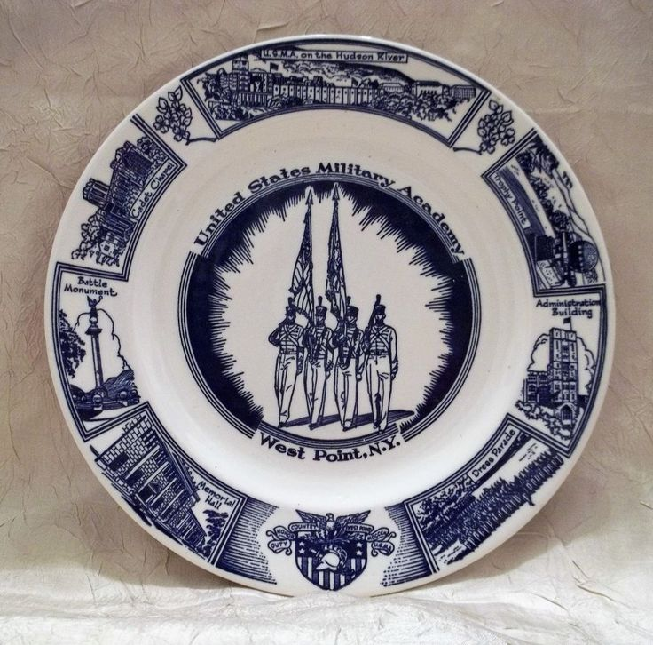 Vintage United States Military Academy West Point NY Collectors Plate U. S. Army