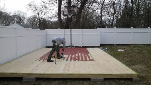 38 best images about jr on pinterest diy headboards for Cost to build outdoor basketball court