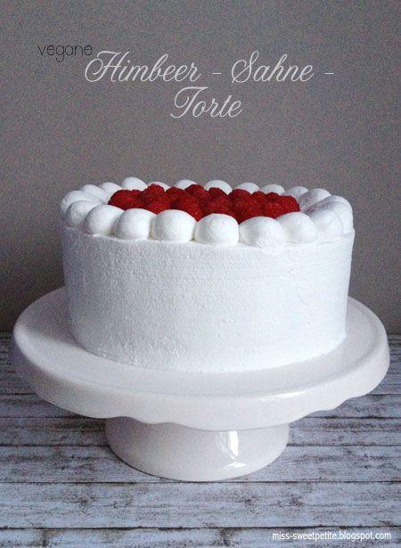 miss sweetpetite: Vegane Himbeer-Sahne-Torte