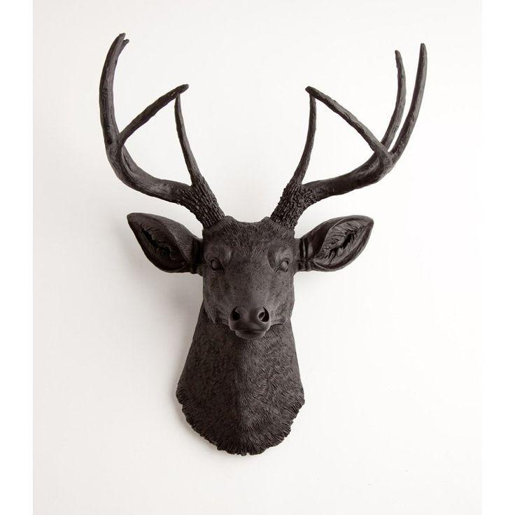 White Faux Taxidermy Faux Deer Head Wall Mount - 126