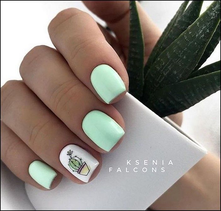91 Simple Short Acrylic Summer Nails Designs For 2019 Page 30
