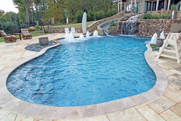 This 16\' x 32\', Gemini-Shaped Fiberglass Inground Pool complete in ...