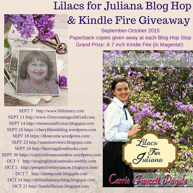 Overcoming With God: Blog Hop for Lilacs for Juliana!!! Kindle Fire Giv...: