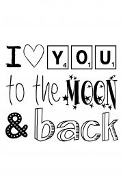 Love you to the moon and back | * Spreuken | Quotes | Zwart wit