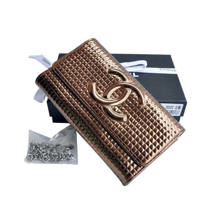 Chanel portefeuilles couleur bronze Pas Cher Soldes CCS178,chanel pas cher  €76.00