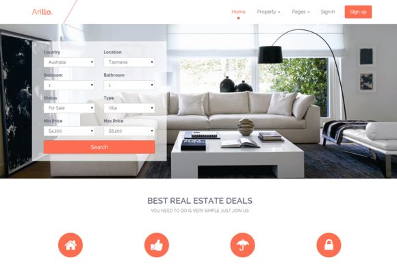 Check out Arillo - Responsive Real Estate by avriqqlabs. on Creative Market