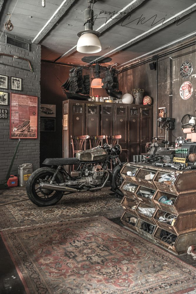Cool Motorcycle Garages The Image Kid