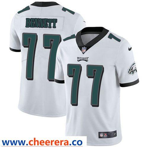 Nike Philadelphia Eagles #77 Michael Bennett White Men's Stitched  free shipping