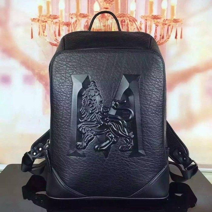 MCM Medium Duke M Lion Backpack In Black
