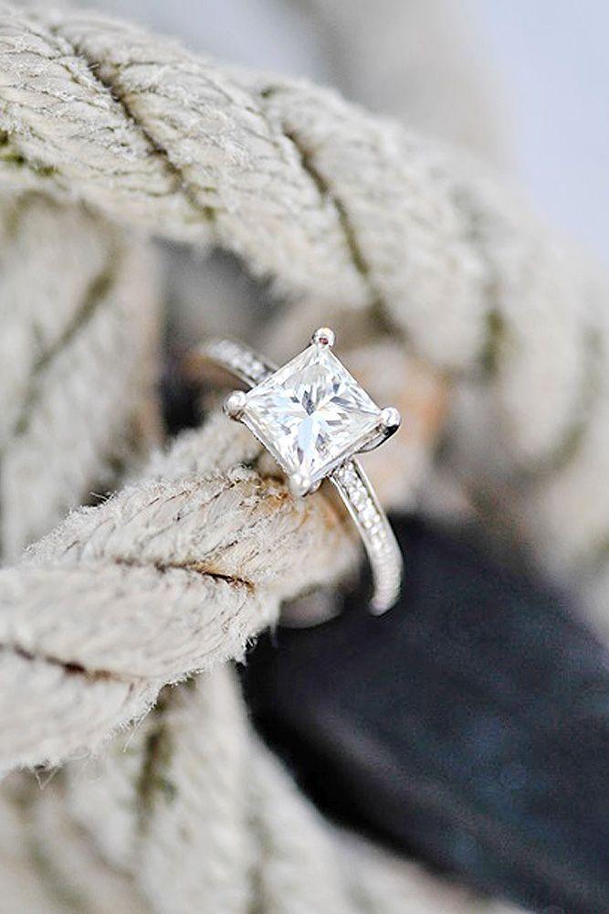 Breathtaking Princess Cut Engagement Rings ❤ See more:  www.weddingforwar...    #weddings