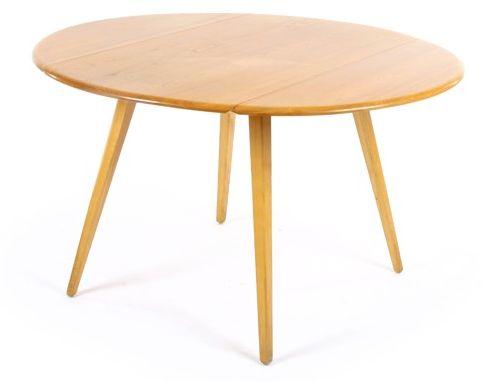 Round kitchen table. 113cm diameter. 63cm folded down.