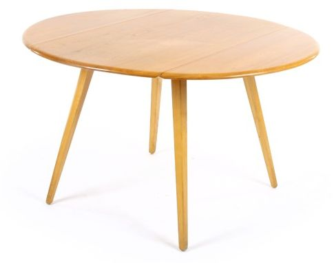 Round kitchen table. 113cm diameter. 63cm folded down.
